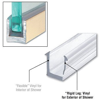 C.R. LAURENCE RV8DUC CRL Rigid Vinyl for DUC38 U-Channel for 8mm (Channel Glass Bath)