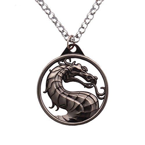 Jemry and Jewelry Mortal Kombat Enchanted Palace Imperial Pendant Necklace Movie Merchandise for Men (Mortal Kombat Costumes For Men)
