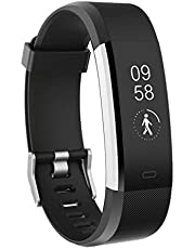 Fitness Tracker, TOOBUR Waterproof Activity Tracker Watch with Heart Rate Pedometer Calories and Sleep Monitor, Step Counter Wristband for Android and iOS