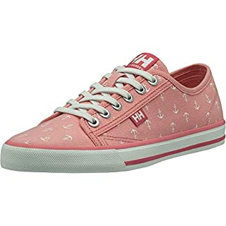 Helly-Hansen Women's Low-Top Sneakers, S Fjord Canvas Shoe V2 Flamingo Pink Off White Blue Tint 8, Women 2