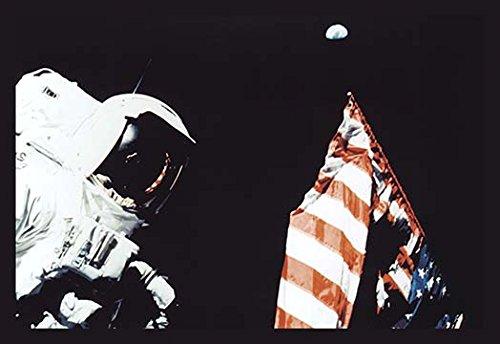 Schmitt Flag and Earth 12x18 Giclee on canvas - Buyenlarge Flags