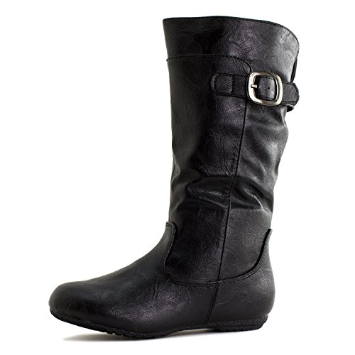 786a8a1e5c097 Generation19 Girls Faux Leather Zipper/Buckle Mid Calf Boots  (Toddler/Little Kid)