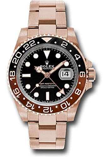 Rolex GMT-Master II 126715 18K Rose Gold Watch Black Dial Black and Brown Rotatable Bezel - Watches Rolex Gold Rose