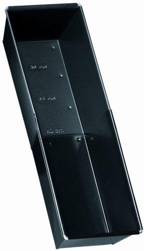 Zenker 6518 Brotbackform ausziehbar 28-40 cm, black metallic