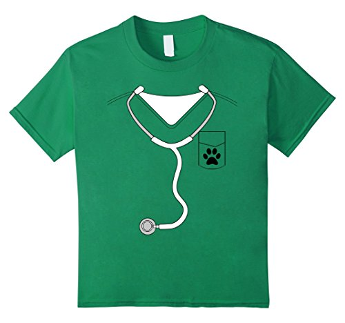 Child Veterinarian Costume Ideas (Kids Funny Halloween Veterinarian Costume Vet Dog Lover T-Shirt 10 Kelly Green)