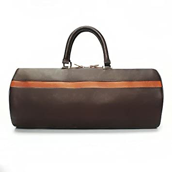 BRUNE Brown Color 100% Genuine Leather Duffel Bag For Men Hand Made And  Hand Painted Duffle Bag Best ... b6049aa948210