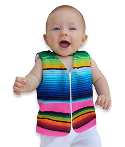 Handmade Baby Vest From Mexican Serape Blanket - Baby Shower Gifts For Girl - Newborn Baby Clothes