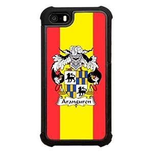 Aranguren Family Crest Spanish Coat of Arms Click America Tuff Impact iPhone 5s Case