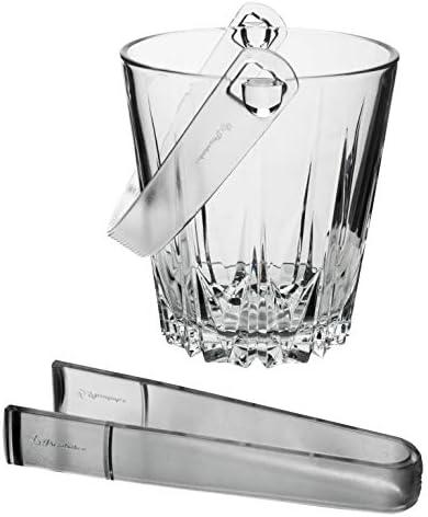 Pasabahce Glas Karat Diamantenschliff Eiswürfel Eiswürfelbehälter Beer Sektkühler mit Kunststoff Zange