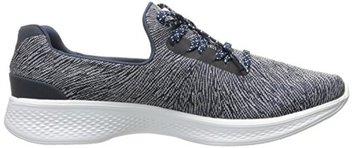Skechers Performance Womens Go Walk 4 Adc Tutto Il Giorno Comfort Walking Shoe Navy / Maglia Bianca