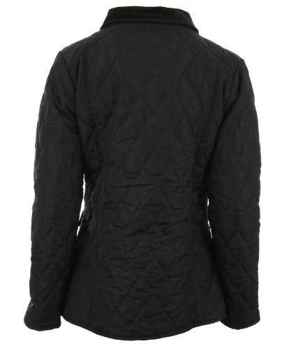 Coat Ladies Quilted Black Jacket Womens Nautical Abbi New Lining Zip xnEY6zn8fq