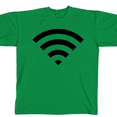 STICKERSLUG Shamrock Green Wifi Icon Unisex Crewneck cotton graphic t-shirt, size x-large