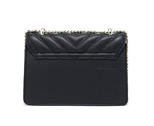 bandolera de Carteras Mujer clutches Shoppers bolsos y mano hombro Fekete Bolsos y de xZp8Yq