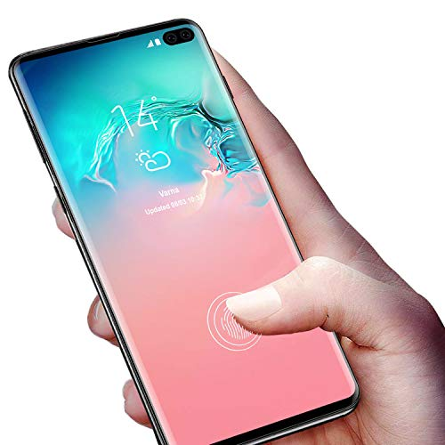 Galaxy S10 Plus Screen Protector, Tamoria 0.2MM Curved Tempered Glass Fingerprint Sensor Compatible for S10 Plus Full 3D Curved Edge Tempered Glass Screen Protector for Samsung Galaxy S10 Plus