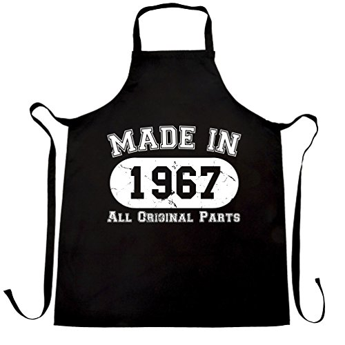 Made In 1967 All Original Parts (Distressed Design) 50th Birthday fiftieth [2017 Edition] Apron Cool Funny Gift Present For Kitchen BBQ Chef Cook