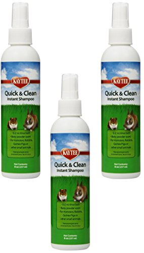 Ferret Dry Shampoo - (3 Pack) Kaytee Quick and Clean Critter Dry Shampoo, 8-Ounce