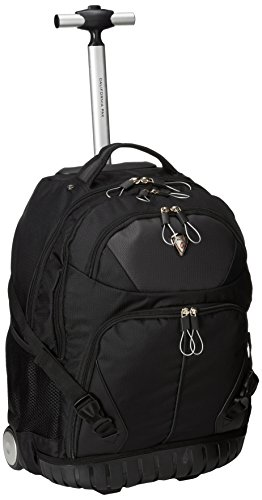 CALPAK Cato Smoky Black 18-inch Rolling 13-inch Laptop Backpack