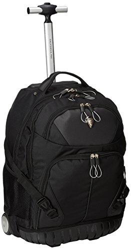 Calpak Cato Smoky Black 18 Inch Rolling 13 Inch Laptop Backpack