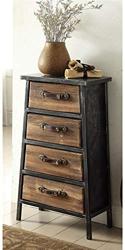 (4D Concepts 4-Drawer Chest in Black and Gray)