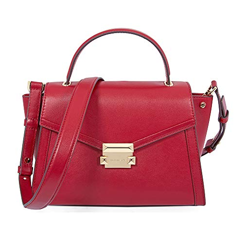 Whitney polished leather top handle satchel | MICHAEL Michael Kors Whitney Polished Quilted Top Handle Satchel (Maroon Smooth)