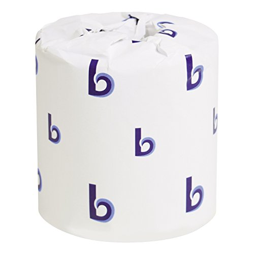 Boardwalk 6170 One-Ply Toilet Tissue Sheets, White, 1000 Sheets per Roll (Case of ()