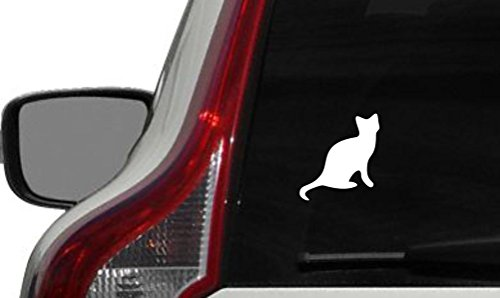 [Cat Silhouette Cartoon Version 1 Car Vinyl Sticker Decal Bumper Sticker for Auto Cars Trucks Windshield Custom Walls Windows Ipad Macbook Laptop and More] (Customs For Halloween Ideas)