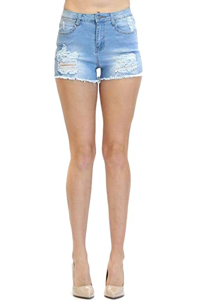 be6326aab87f G-Style USA American Bazi Women's Cute Cutoff Denim Jean Short Shorts at  Amazon Women's Clothing store: