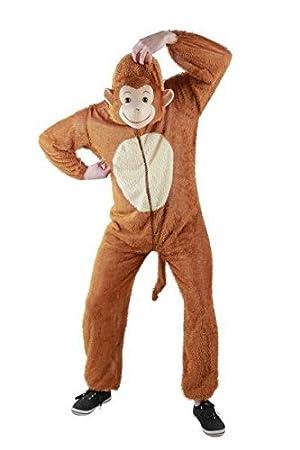 Foxxeo 10005 - Disfraz de mono (disponible en tallas S, M, L, XL ...