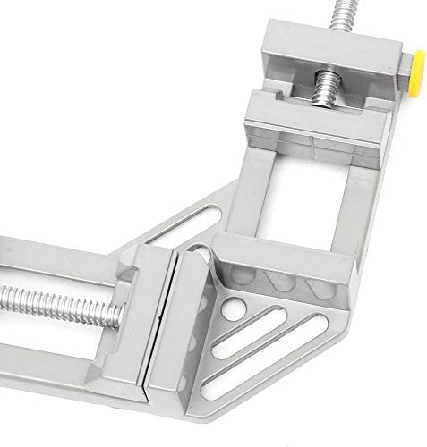 Woodworking Clamps 90 Degree Right Angle Clip Woodworking Jig Quick Corner Clamp with TPR Handle Effetool Double Handle Woodworking Clamp Ideal for DIY Woodworking