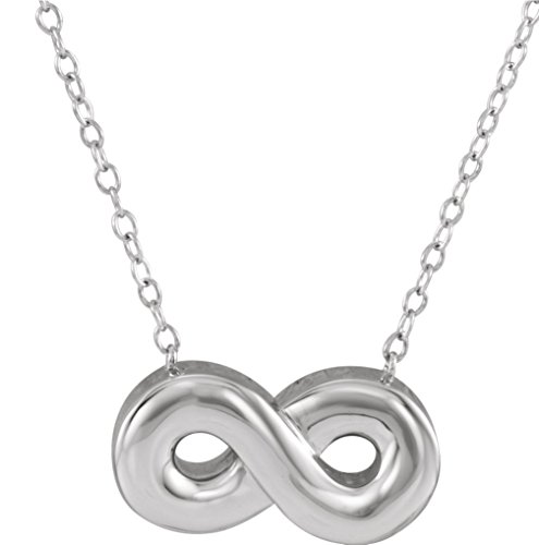 Infinity Ash Holder Necklace, Rhodium Plated Sterling Silver, 18'' by The Men's Jewelry Store (Unisex Jewelry)