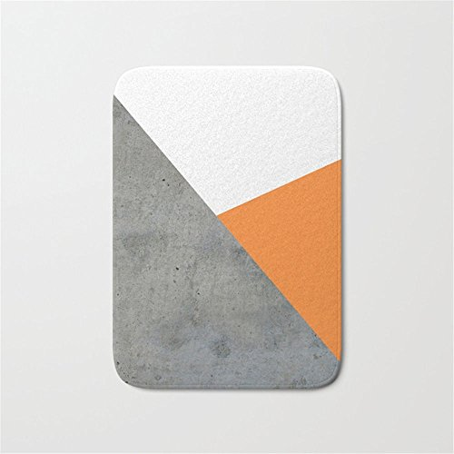Bathroom Sink Mold - Swou Concrete Tangerine White Door Bath Mat 23.6