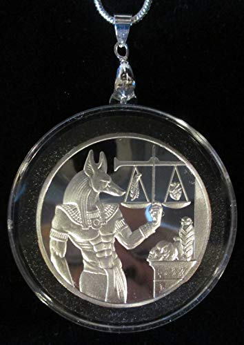 Anubis Egyptian God COIN/PENDANT (AIR TIGHT CAPSULE) with 24