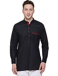 Maple Clothing Short Kurta Shirt Men's Cotton Designer Indian Fashion Apparel