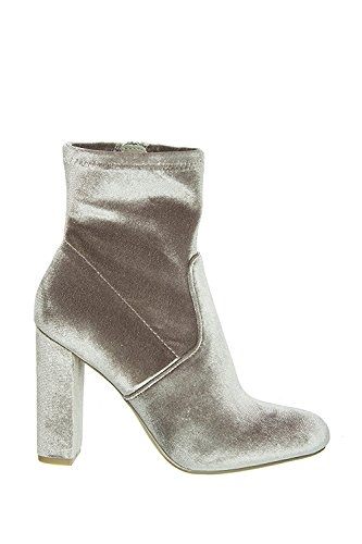 Boot Ankle Velvet Edit Grey Steve Madden xaTwYY
