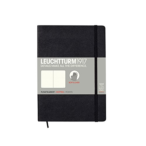 Leuchtturm1917 Softcover Medium Dotted Notebook Black
