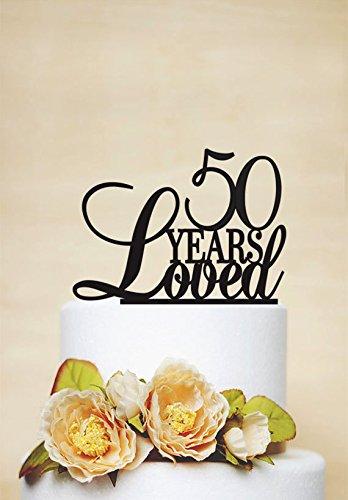 Decoración para tarta de 50 cumpleaños, diseño de ...