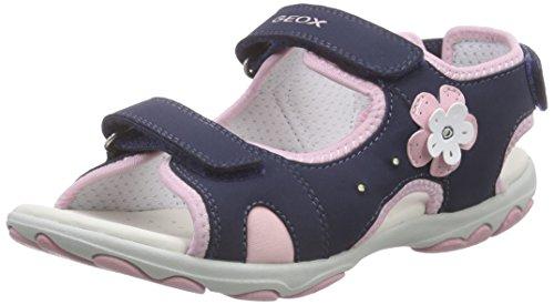 Geox JR SANDAL CUORE - Sandalias Niñas Azul Marino / Fucsia