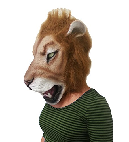 Scar And Mufasa Costumes (Deluxe Latex Mask - Novelty Animal Latex Head Mask by Funny Party Hats)