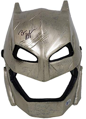 Ben Affleck Signed Armored Batman vs Superman Adult Mask BAS Authentication