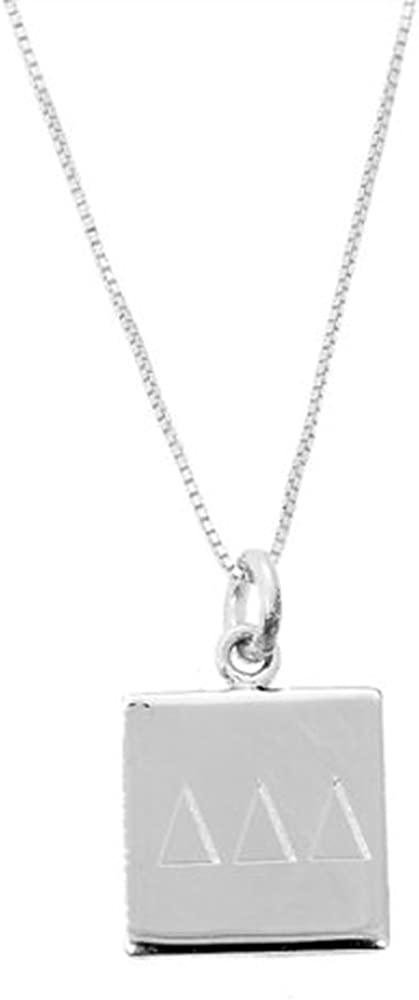 Sterling Silver Engravable Rectangle Polished Front and Back Disc Charm Pendant