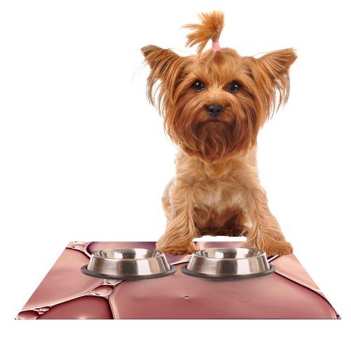 KESS InHouse Ingrid Beddoes Dusty Pink  bluesh Feeding Mat for Pet Bowl, 24 by 15-Inch
