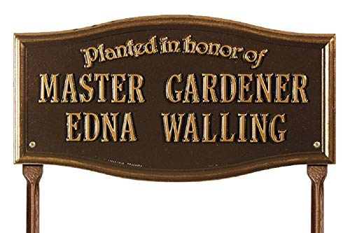 Exterior Accents Custom Vicksburg Planted in Honor of Memorial Aluminum Lawn Plaque - 17