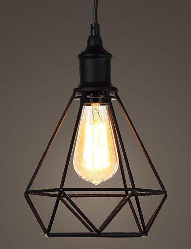 YanCui@ Amercian Bedroom Small Steel Birdcage Pendant Vintage Retro DIY Drop Light Industrial Lighting Fixture for Home Decorate , warm white-110-120v