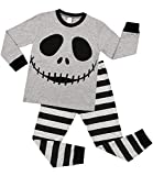 Sociala Halloween Pajamas for Kids Gray Pjs Little Boys Girls Jammies Unisex 4