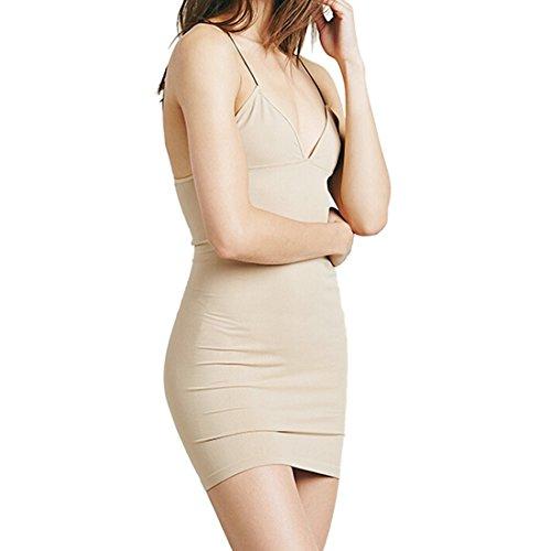 Sexy Frauen Mehrfarben Tiefem V Ausschnitt Elastische Bodycon Slim Wrap Kurzes Minikleid