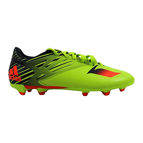 Firm Ground Shoes Soccer 14 - adidas Performance Men's Messi 15.3 Soccer Shoe,Semi Solar Slime/Solar Red/Black,10 M US