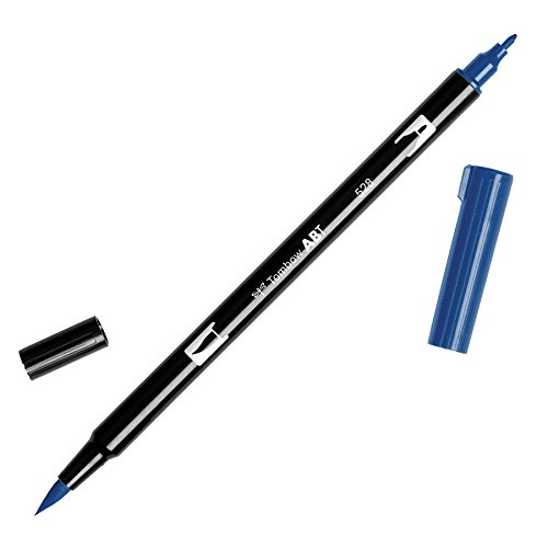 (Tombow Dual Brush Pen Art Marker, 528 - Navy Blue, 1-Pack)