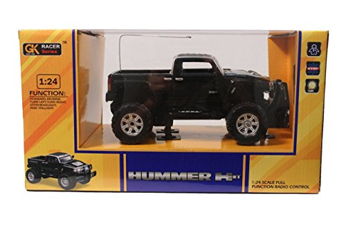 (GK Racer Series Hummer H3T 1:24 Scale Full Function Radio Control (BLACK))