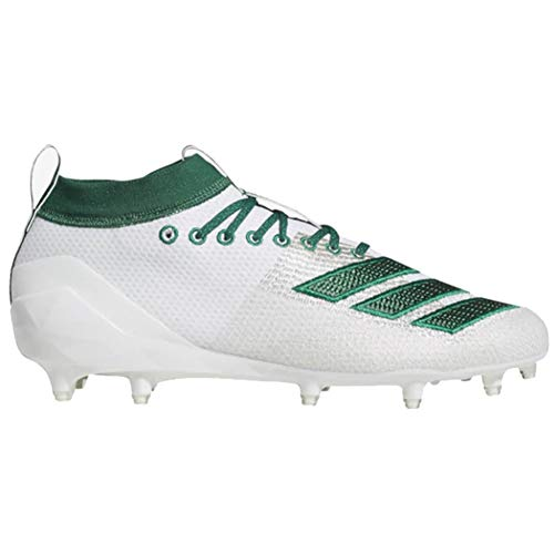 - adidas Men's Adizero 8.0 Football Shoe, White/Dark Bold Green, 10.5 M US