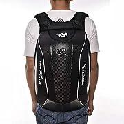 Motorcycle Backpack Motorbike Helmet Backpack- Waterproof Hard Shell – Carbon Fiber Material 30L Large Capacity for…